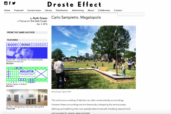 DROSTE EFFECT – CARLO SAMPIETRO. MEGALOPOLIS